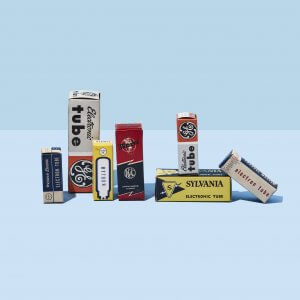 Vintage Vacuum Tube Boxes | Fuzz Audio
